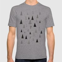 Raining Triangles Mens Fitted Tee Athletic Grey SMALL