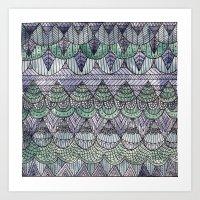 Watercolour Pattern1 Art Print