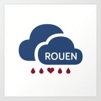 Rainy Rouen (2) Art Print