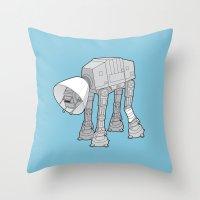 Battle Damage Throw Pillow