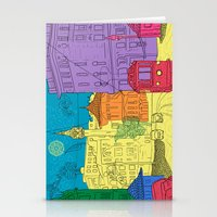 old city Stationery Cards