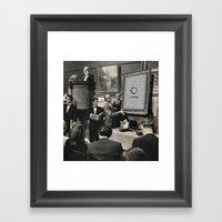 Silent auction Framed Art Print