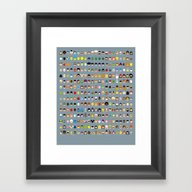 Framed Art Print featuring Famous Capsules - The Bi… by Greg-guillemin
