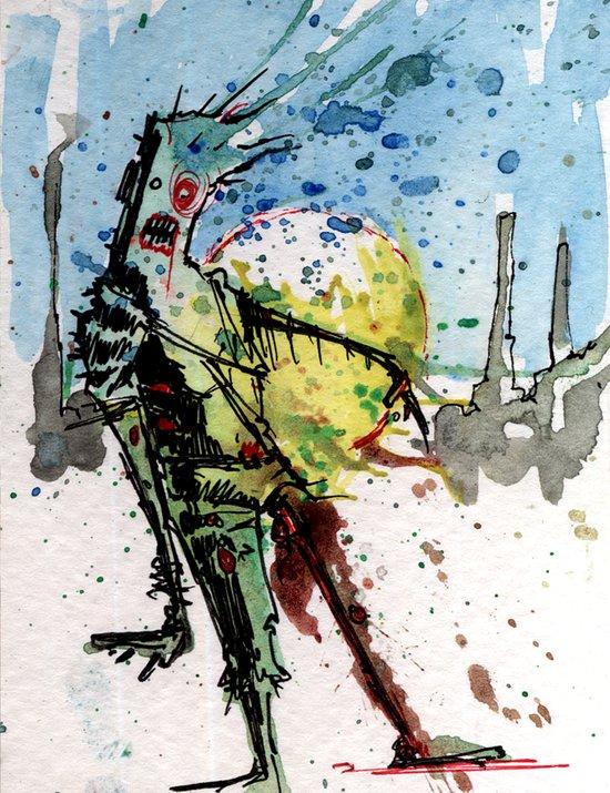 desert zombie Canvas Print