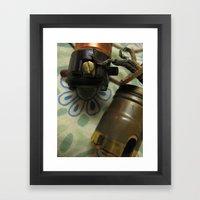 electric house for grandma Framed Art Print