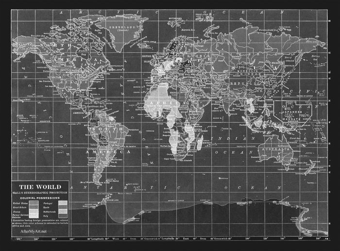 Poster world map black and white tarzan the wonder car movies smoking with guitar black white music poster ca yourself how allposters is transforming the way the world discovers posters door posters world maps gumiabroncs Images