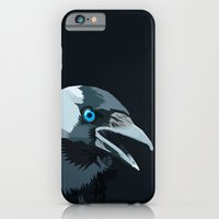 iPhone & iPod Case featuring Corvus monedula has a stinking attitude by Sasquatch
