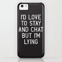 iPhone 5c Cases featuring Chat by Vectored Life