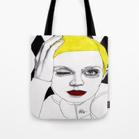 Girl With Yellow Hair Tote Bag