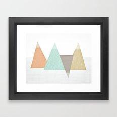Mountains. Framed Art Print