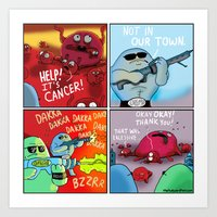 Hasta La Vista, Cancer Art Print