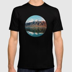 New Zealand Glacier Landscape Black Mens Fitted Tee SMALL