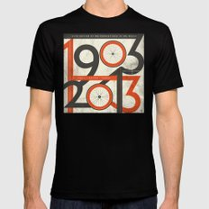 100 Years of The Tour de France SMALL Mens Fitted Tee Black