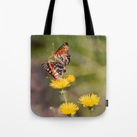 Butterfly Acrobats Tote Bag