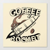 COFFEE ROCKET Canvas Print