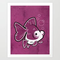 Moor Goldfish Art Print