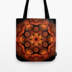 Burning jellyfish kaleidoscope Tote Bag