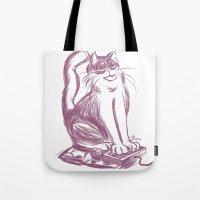 Geek Cat  Tote Bag