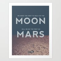 From the Moon to Mars Art Print