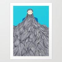SuperBeard Art Print