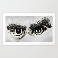 Doubt Black Eyes Art Print