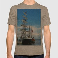 Sailing Vessel Mens Fitted Tee Tri-Coffee SMALL