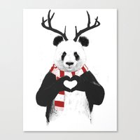 Xmas Panda Canvas Print