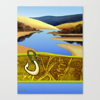 Water Meets Sand: Te Paki Stream Canvas Print