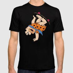 Shred Flintstone Black SMALL Mens Fitted Tee