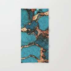 AQUA & GOLD GEMSTONE Hand & Bath Towel