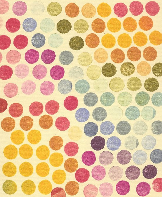Stamp Dots Art Print