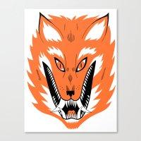 Cursed Fox Canvas Print