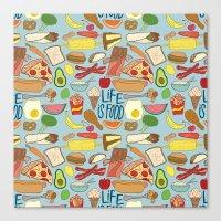LIFE IS FOOD Canvas Print