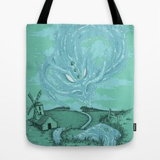 The River's Fierce Ascension Tote Bag