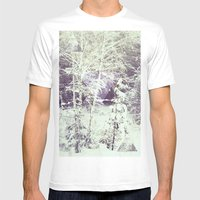 Winter Forest Mens Fitted Tee White SMALL