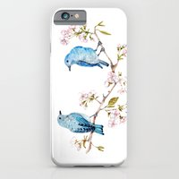 Mountain Bluebirds on Sakura Branch iPhone 6 Slim Case