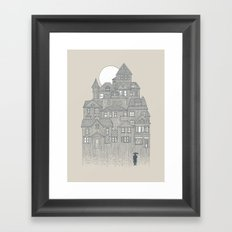 Rainy City Framed Art Print