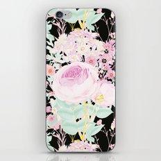 Flower Bouquet in Black iPhone & iPod Skin