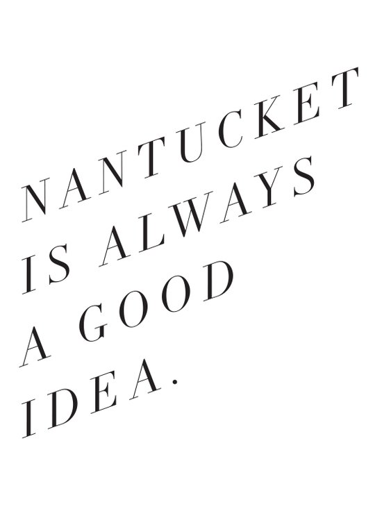 nantucket is always a good idea Art Print