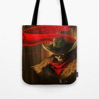 Skull Cowboy Tote Bag