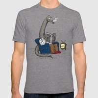 The Dadasaurus Mens Fitted Tee Tri-Grey SMALL