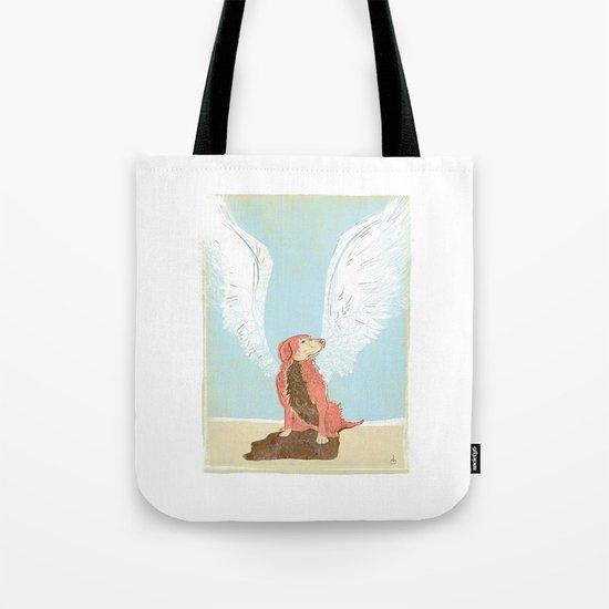 All Dogs Go to Heaven (Golden Retriever) Tote Bag