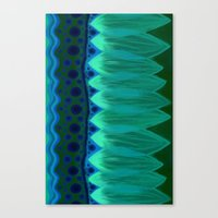 Canvas Print featuring Blue Lotus Petals by California English