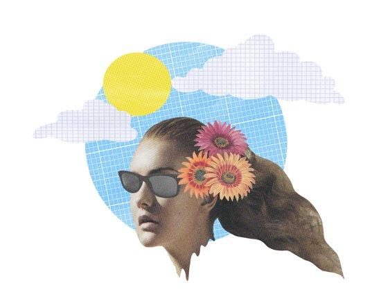 Head Collage Art Print