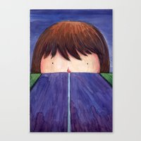 Ghost In The Road Canvas Print
