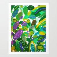 Between The Branches. II… Art Print
