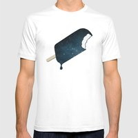 Space Melter Mens Fitted Tee White SMALL