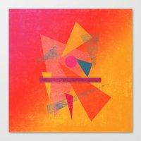 Autumn Abstract Design Canvas Print