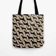 Dog -Doberman: Black Khaki Tote Bag