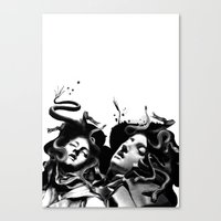 Beating Medusa Canvas Print